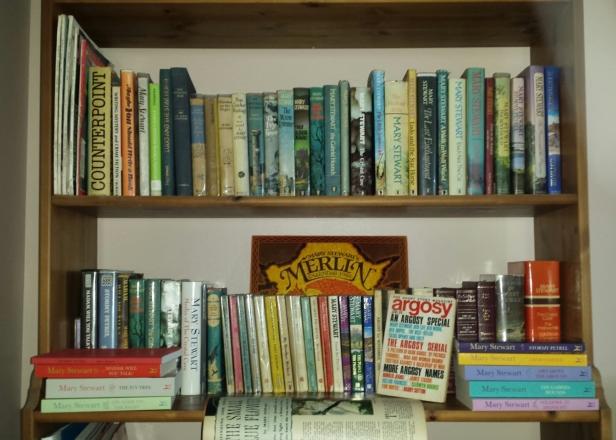 Mary Stewart bookshelves