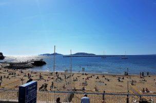 A Marseille beach